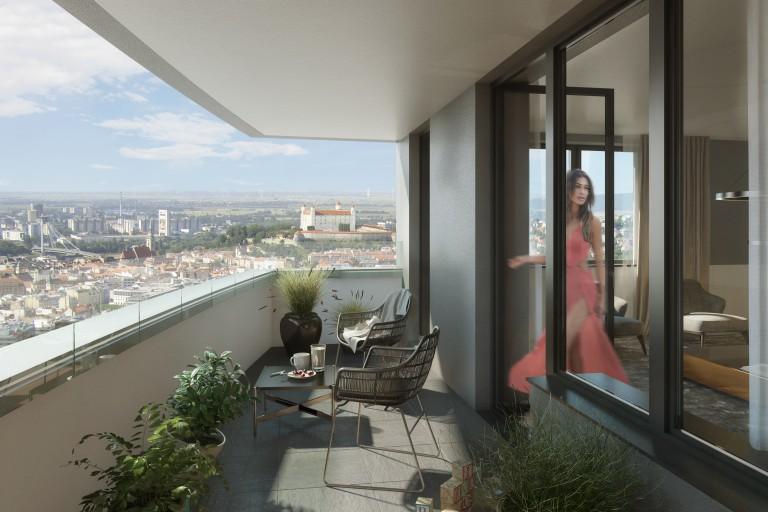 Predaj bytov s vysnívaným výhľadom v centre Bratislavy zahájený