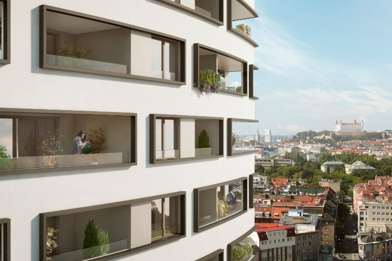 We have apartments on the last floors on sale - divine views and Bratislava in the palm of your hand